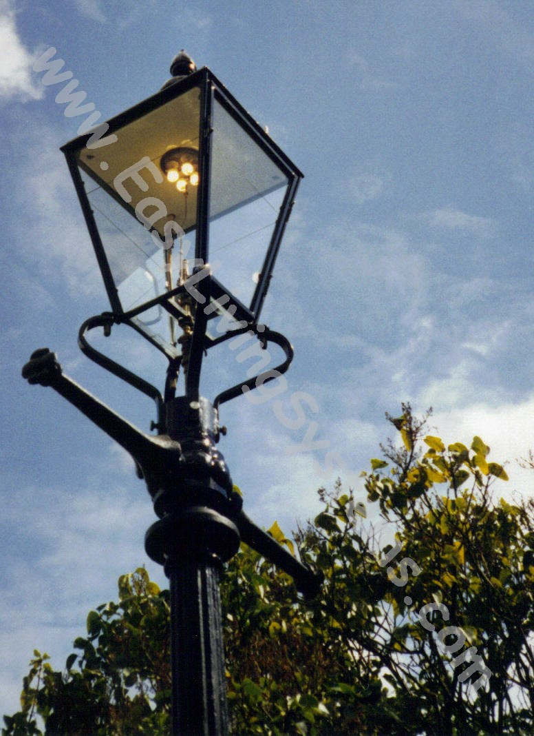 customer photos of gas street lamp outdoor yard lighting fixtures
