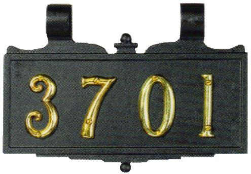 Brass Mailbox Address Plaque Numbers
