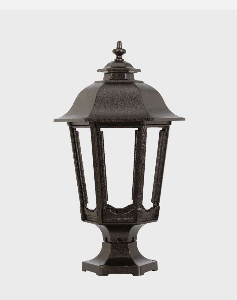 Bavarian 1200 Gaslite Outdoor Gas And Electric Yard Lamp Lighting Fixture E