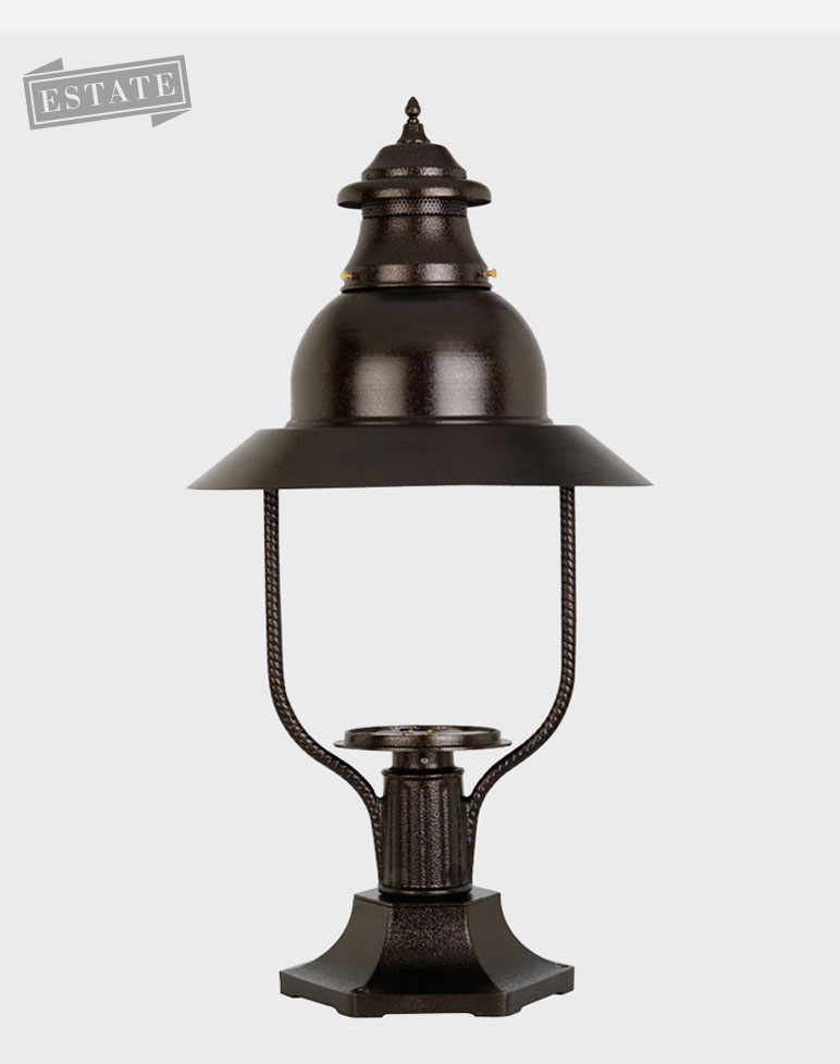 Apollo 4300 Gaslite Outdoor Gas And Electric Yard Lamp Lighting Fixture Eas