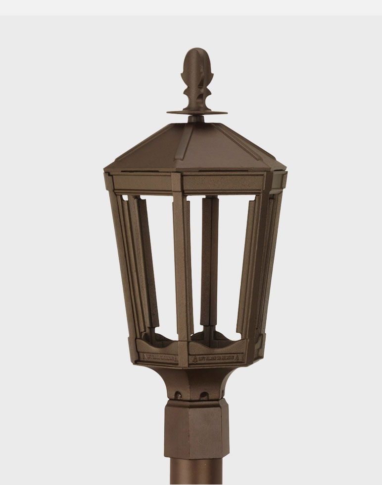 Residential Cast Aluminum Gaslite Outdoor Gas And Electric Yard Lamp Lighting