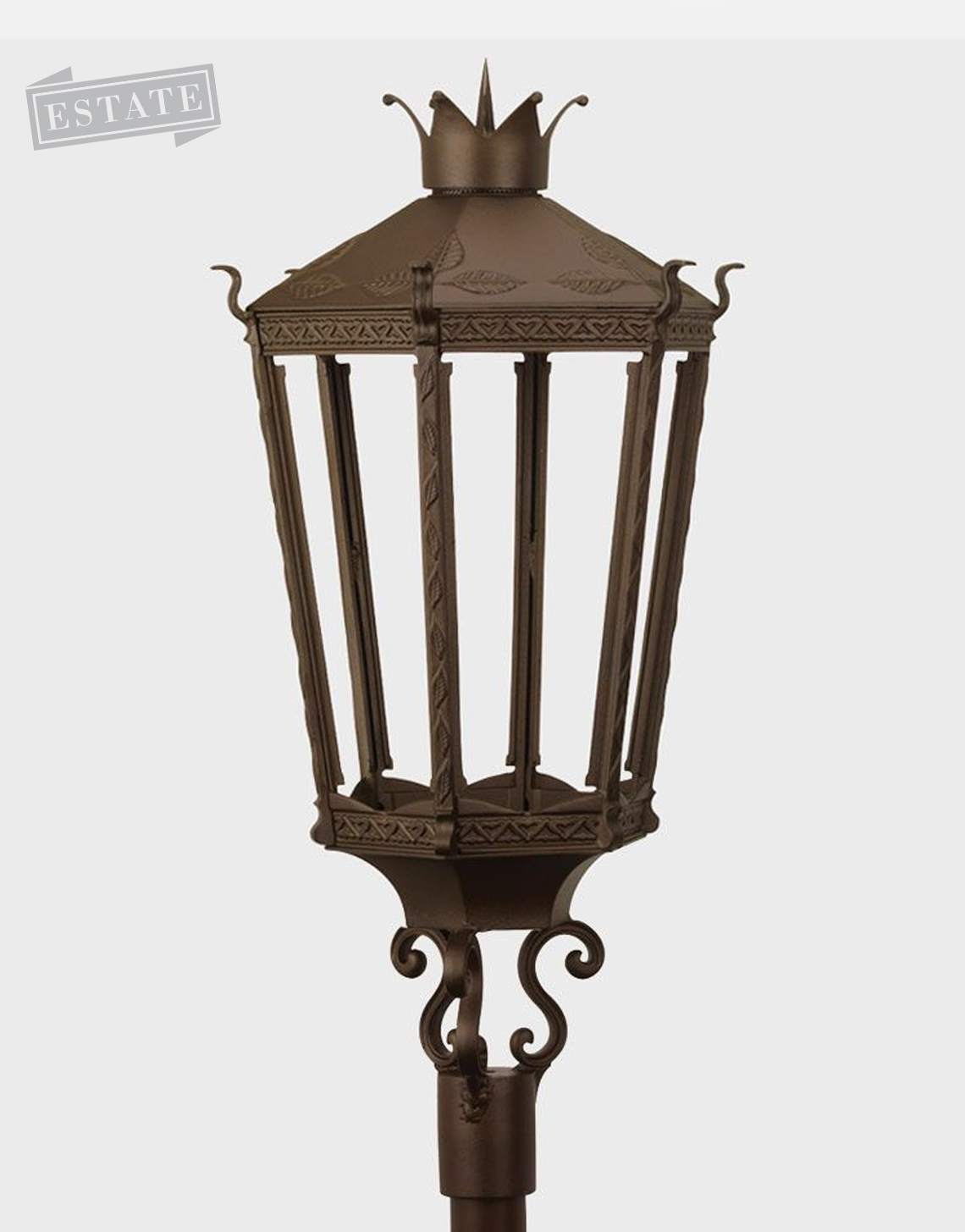 Kronberg 9000 post mount gas lamp
