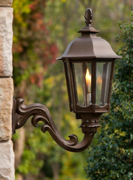 Gaslite outdoor gas street yard lamp fixture wall mounted gas lamp lighting fixture by american gas lamp works
