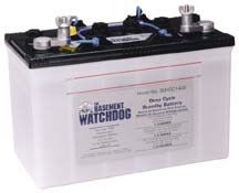 basement watchdog standby or backup sump pump batteries