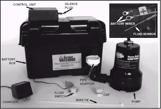 requiresbasement watchdog7 5 hour standby sump pump battery to operate